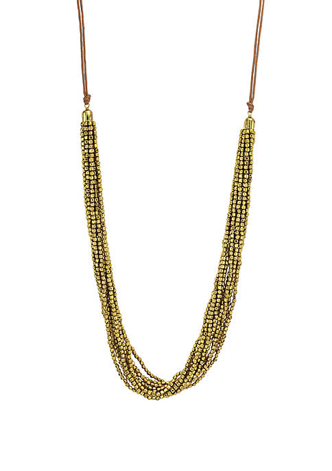 New Directions® Long Multi Row Seed Bead Necklace