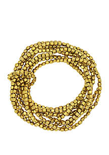 New Directions® Multi Row Seed Bead Stretch Bracelet