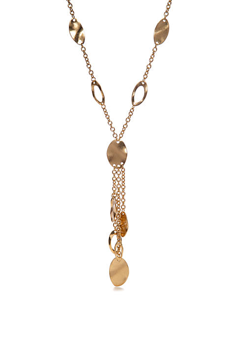 New Directions® Gold Tone Tassel Ncklace