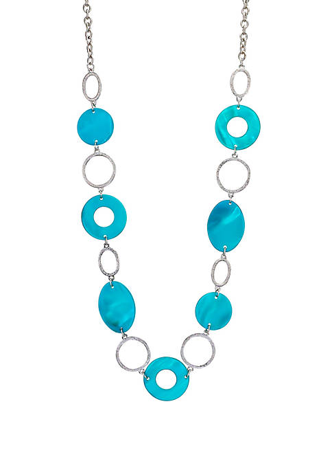 One Row Long Shell Linked Necklace