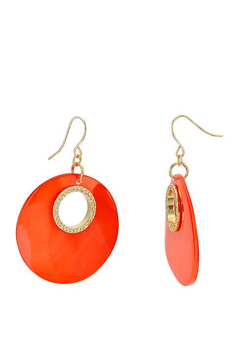 Shell Open Drop Earrings