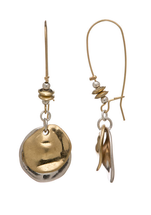 New Directions® 2 Tone Disc Earrings