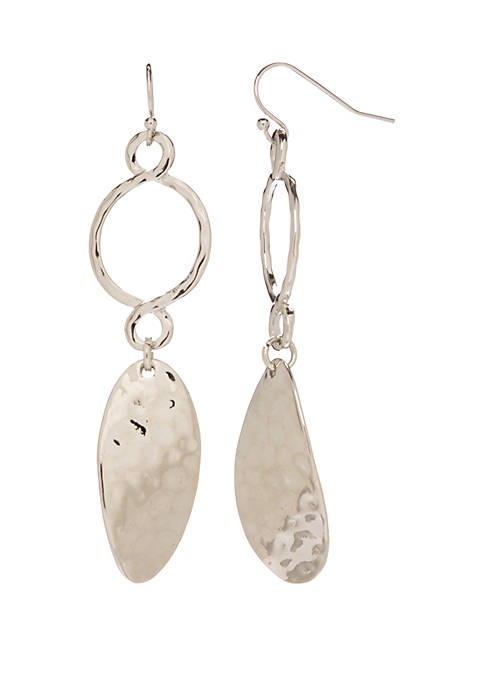 New Directions® Silver Tone Open Circle Drop Earrings