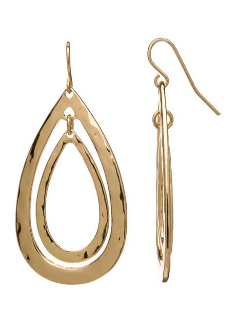 Belk Shy Gold Double Open Teardrop Orbital Earrings