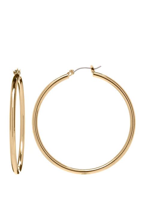 Belk Gold Tone 50 mm Hoop Earrings