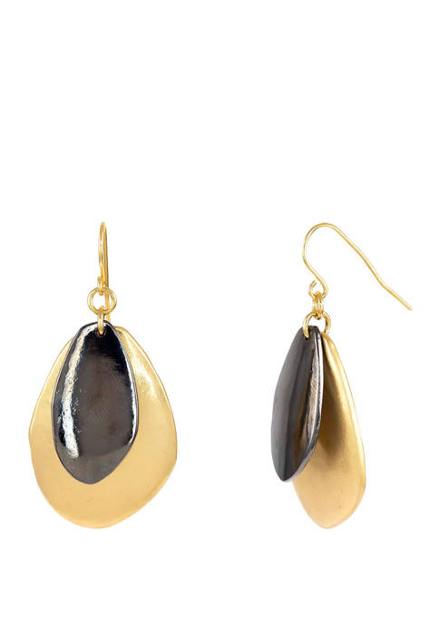 New Directions® Gold and Hematite Tone Double Organic
