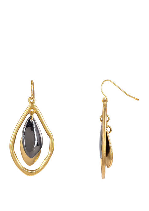 New Directions® Gold and Hematite Tone Open Organic