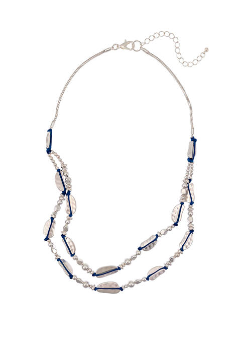 2 Row Short Necklace with Wrapped Beads