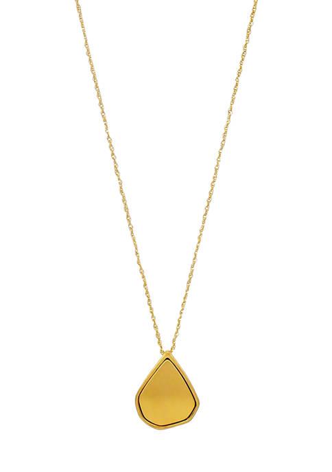 Belk Gold Long Teardrop Nugget Pendant Necklace