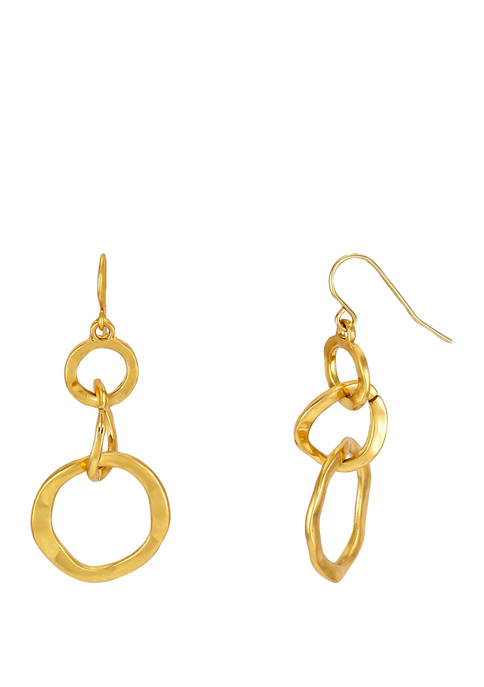 New Directions® 3 Interlocking Circles Drop Earrings