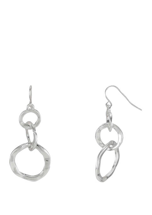 3 Interlocking Circles Drop Earrings