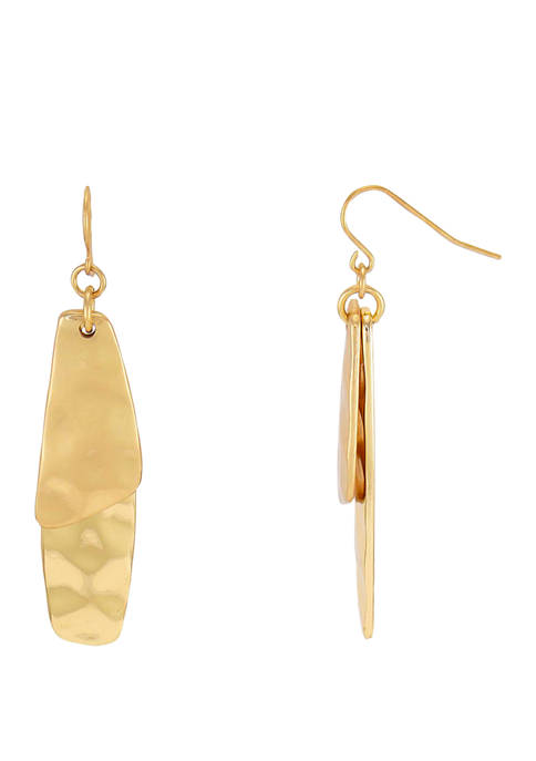 New Directions® Double Organic Rectangle Drop Earrings