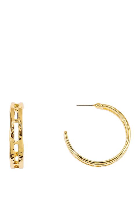 Open Link Hoop Earrings
