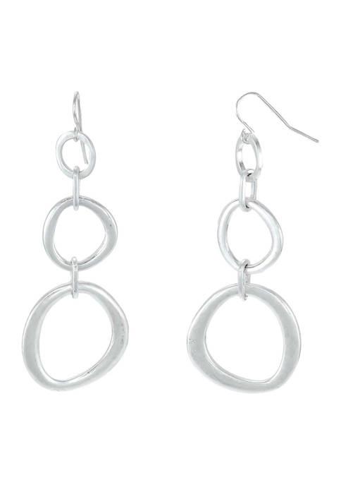 Triple Open Link Drop Earrings