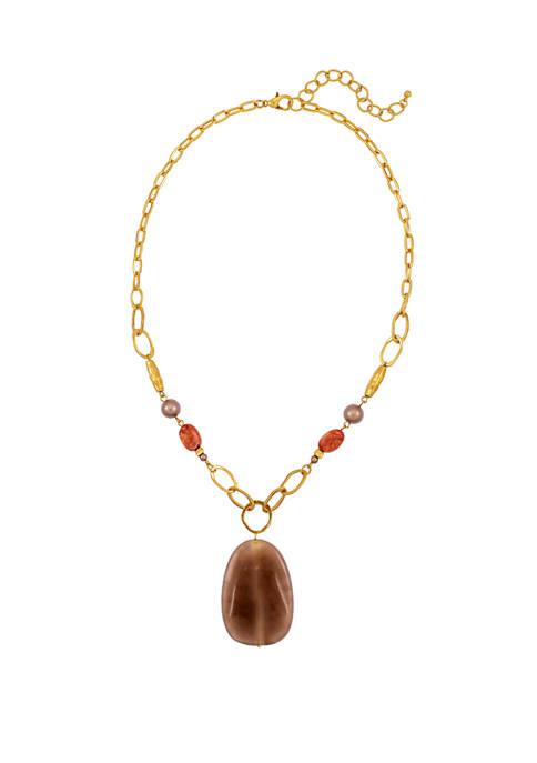 Color Pendant Short Necklace