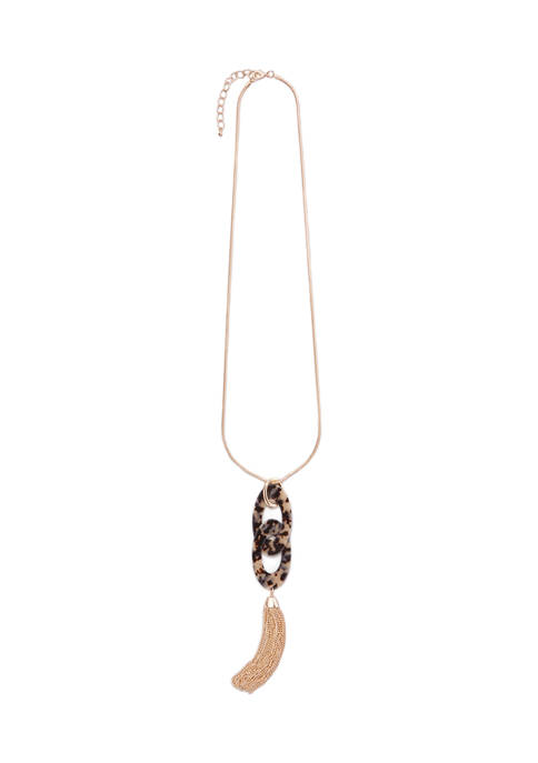 New Directions® Double Oval Tortoise Link and Tassel