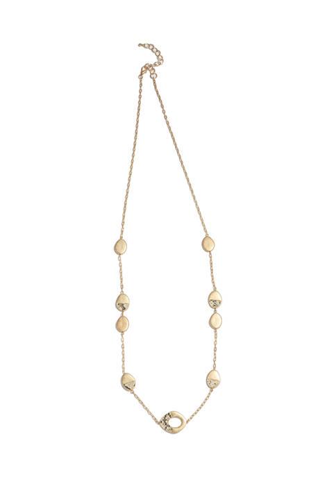 Snakeskin Gold Tone Necklace
