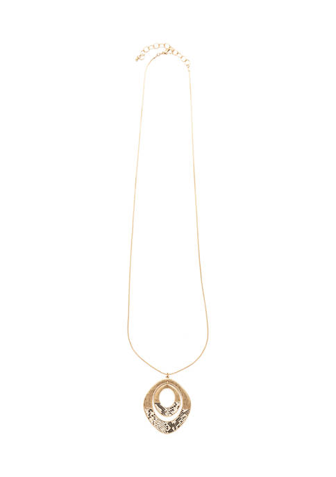 Long Orbital Pendant Necklace
