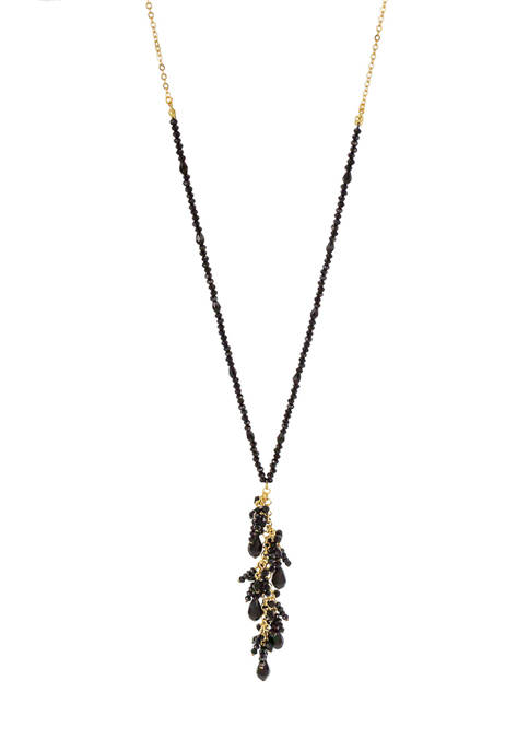 Beaded Necklace with Shaky Tassel
