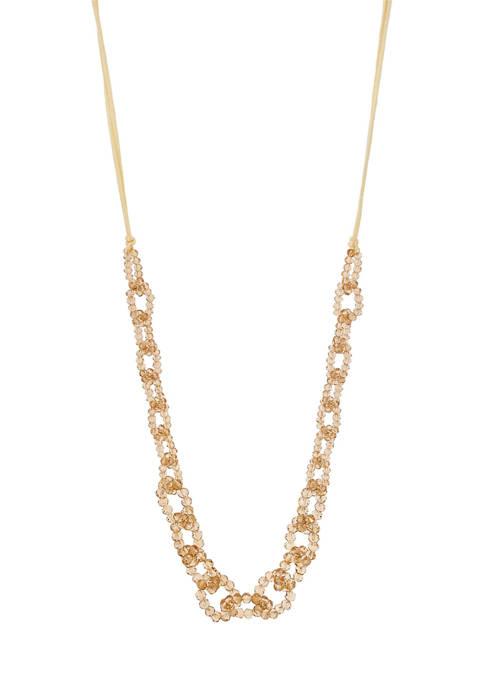 Rhodium Link Necklace