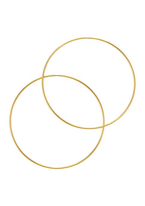 Belk Gold Tone Thin Large Endless Hoop Earrings