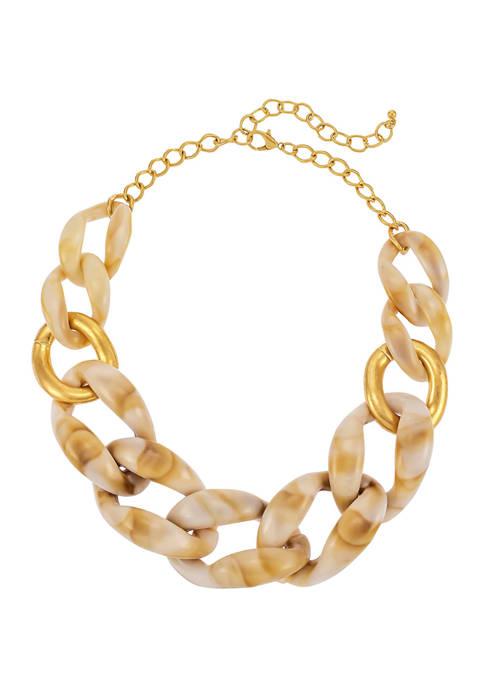 Natural Resin Link Necklace