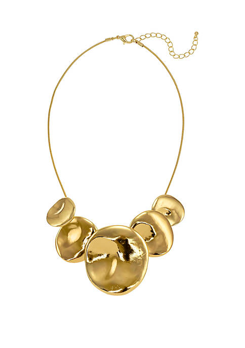 Shiny 5 Disc Frontal Necklace
