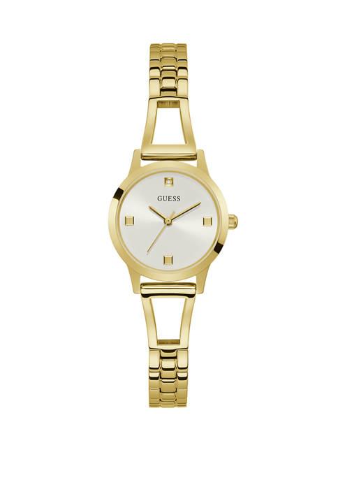 GUESS® Womens Petite Shine Luxe Look Bracelet Watch