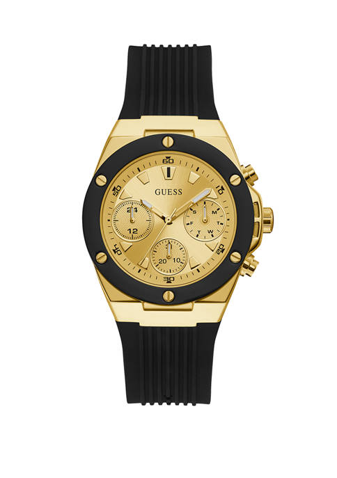 GUESS® Black Gold Water Resistant Watch