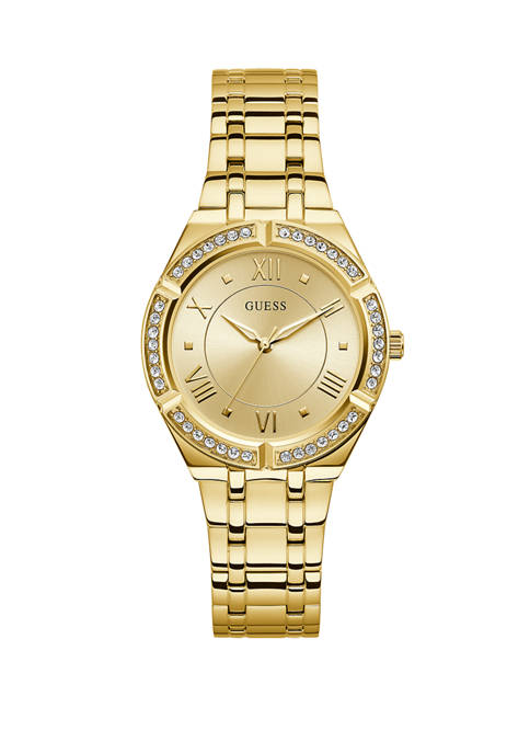 GUESS® Womens Cosmo Gold Analog Watch