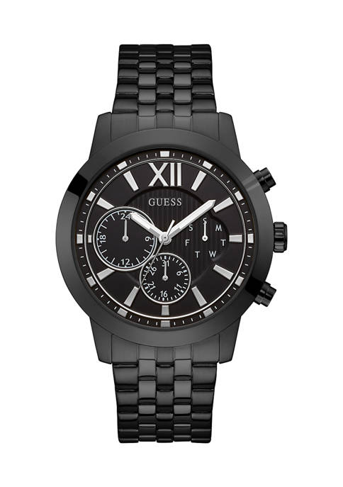 GUESS® 50 Meter Water Resistant Black Case Stainless