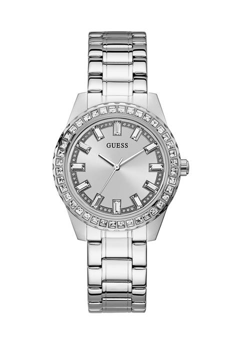 GUESS® Sparkle Silver Analog Watch