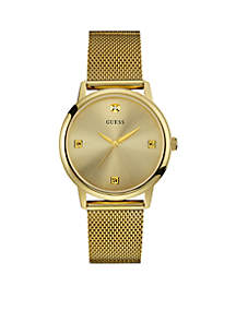 Men's Gold-Tone Slim Mesh Watch
