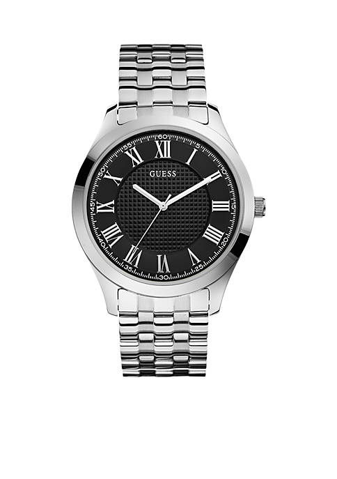 Mens Classic Roman Numeral Steel Watch