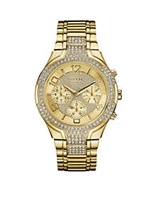 Women's Gold-Tone Crystal Watch