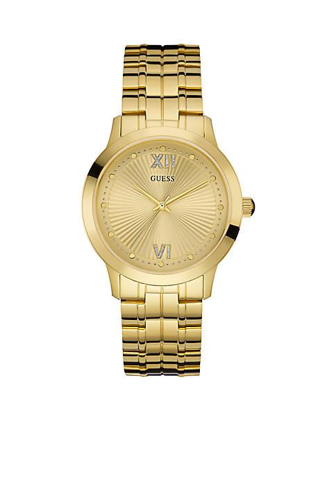 Gold-Tone Guess Sport Dress Watch