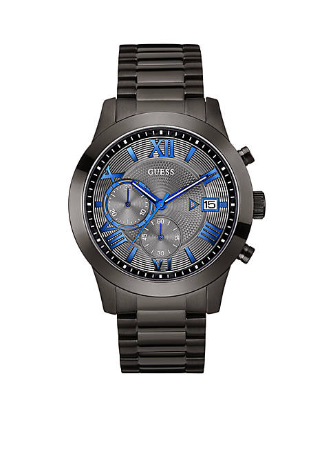 GUESS® Mens Gunmetal Stainless Steel Chronograph Watch