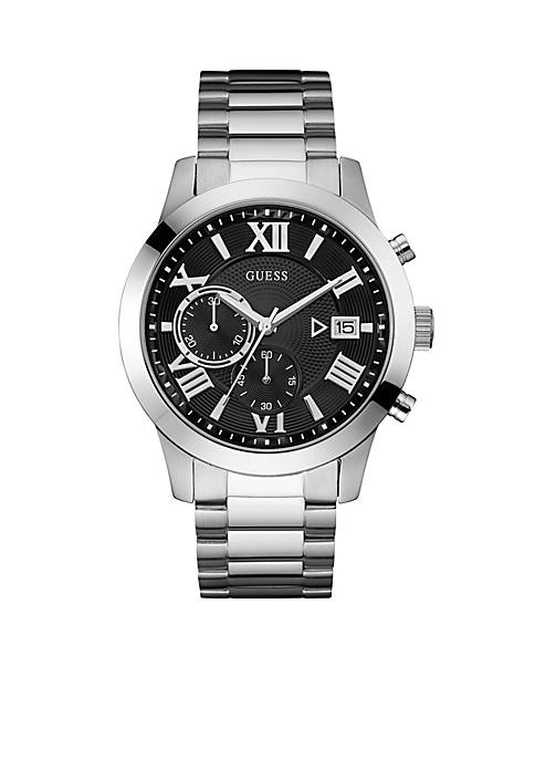 GUESS® Mens Stainless Steel Chronograph Watch