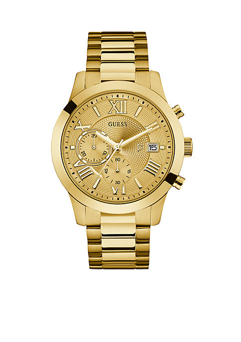 GUESS® Gold-Tone Chronograph Watch