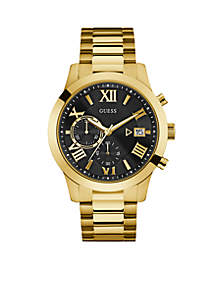 Gold-Tone Classic Style Chronograph Watch