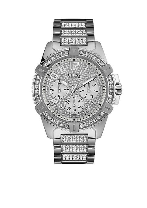 GUESS® Silver-Tone Showstopping Presence Watch