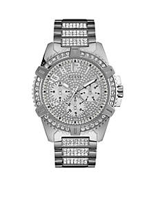 Silver-Tone Showstopping Presence Watch