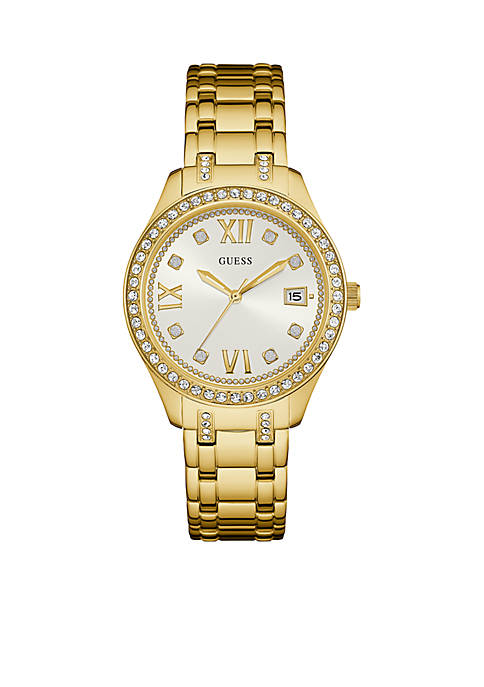 Gold-Tone And Crystal Classic Sport Watch