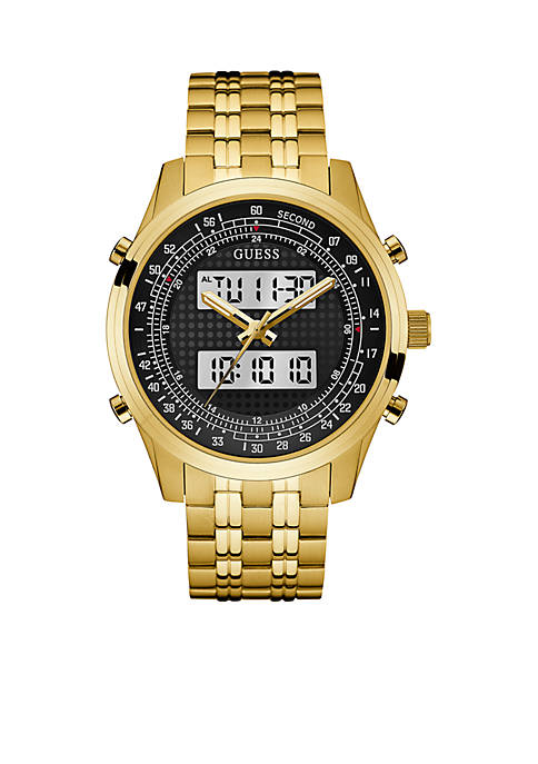 Mens Gold-Tone Rouge Digital Chronograph Watch