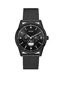 Men's Black Steel Varick Sleek Diamond Watch