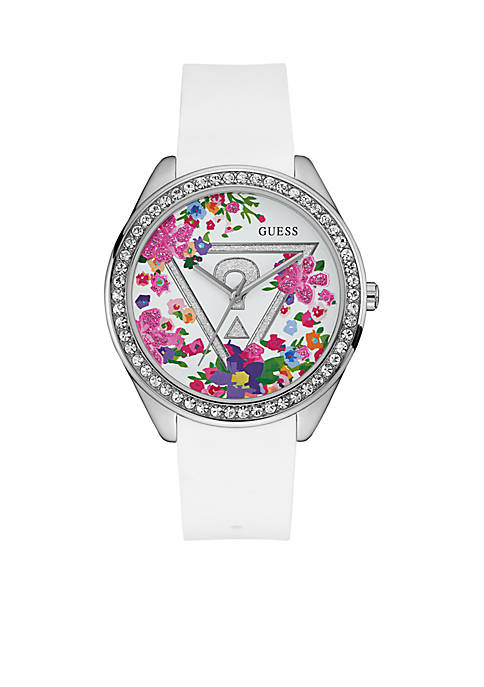 Womens Oversized Iconic Glitzy Floral Watch