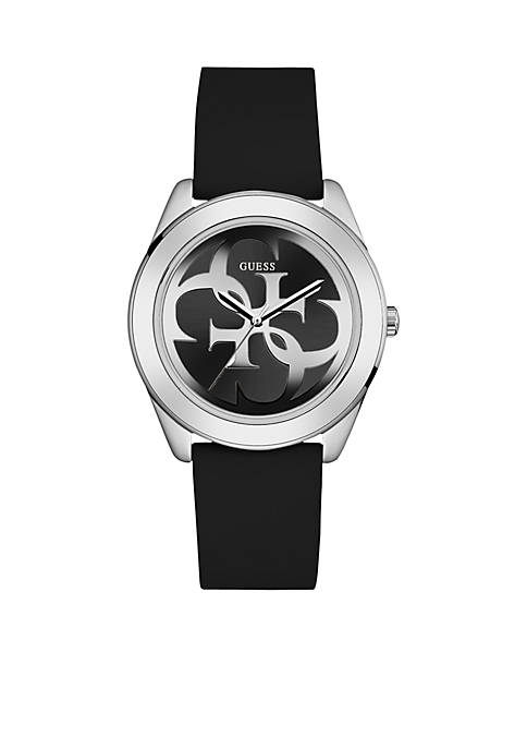 Black And Silver-Tone Logo Watch