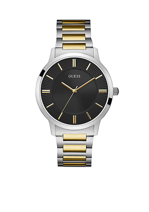 GUESS® Silver And Gold-Tone Dress Watch