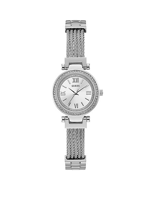 Crystal And Steel Modern Classic Watch