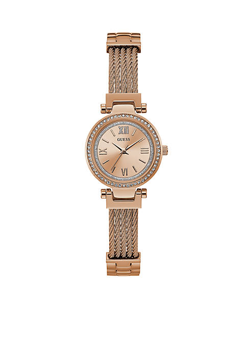 Rose Gold-Tone and Crystal Modern Classic Watch